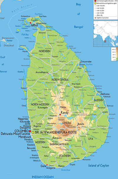 Sri lanka Travel and Tours Beach Resorts with Royal India Holidays ... Sri Jayawardenapura-kotte Map